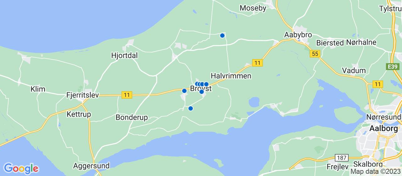 sandblæsning firmaer i Brovst