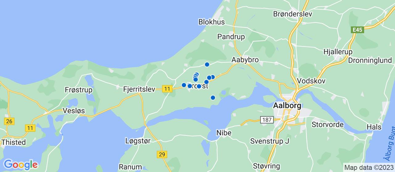 tømrerfirmaer i Brovst