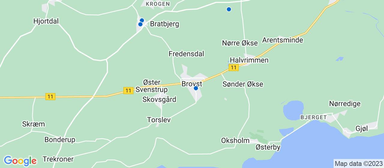 anlægsgartnerfirmaer i Brovst