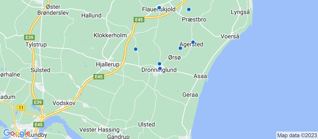 tagdækningsvirksomheder i Dronninglund