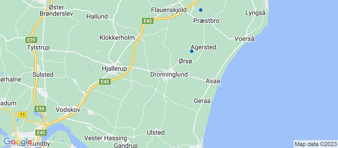 tagrensningsfirmaer i Dronninglund
