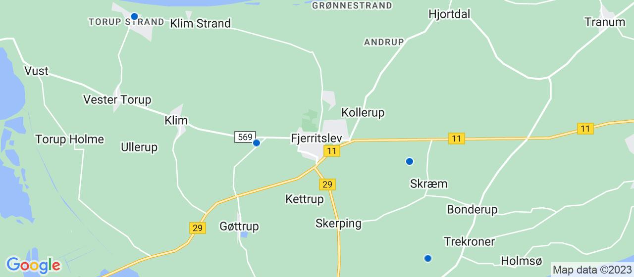 rengøringsfirmaer i Fjerritslev
