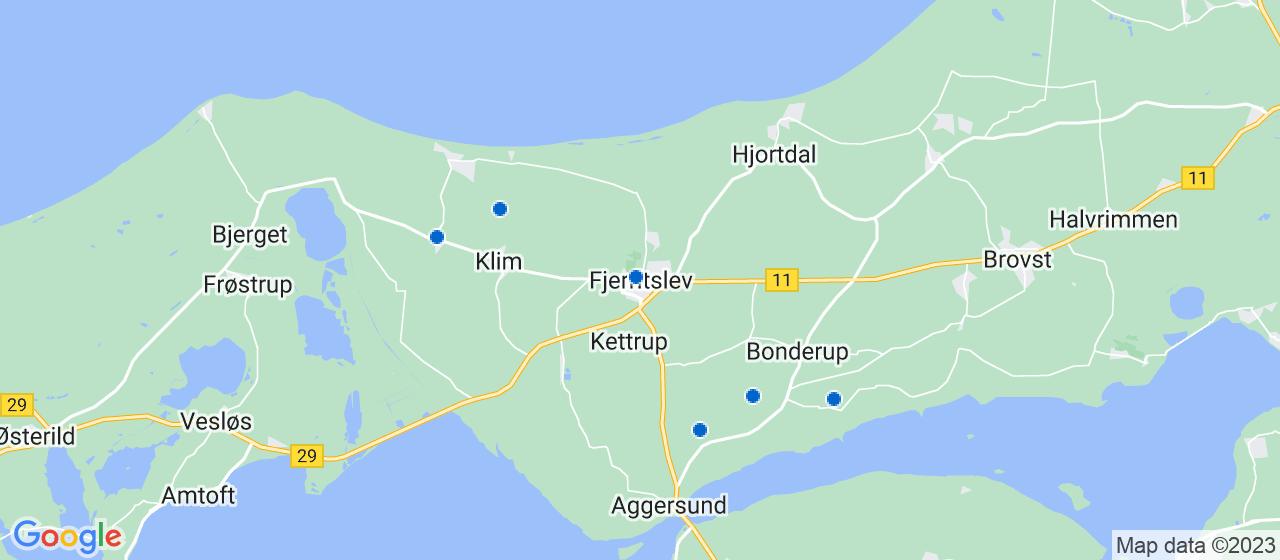anlægsgartnerfirmaer i Fjerritslev