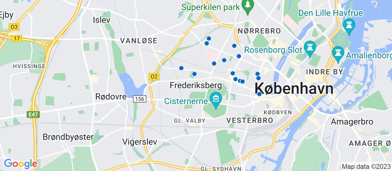 entreprisefirmaer i Frederiksberg