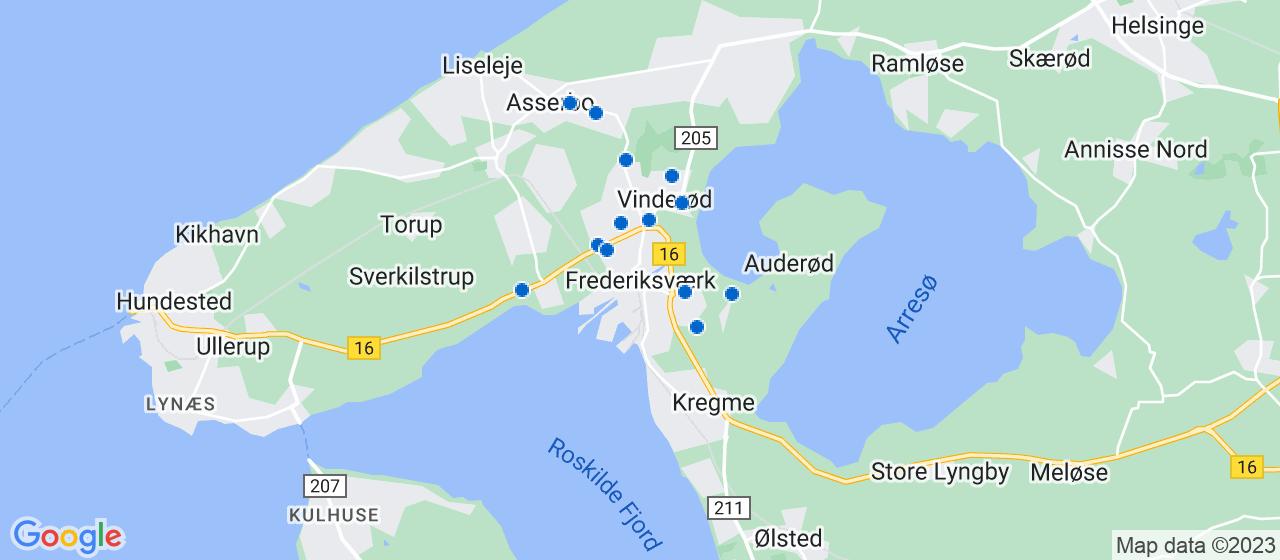 byggefirmaer i Frederiksværk