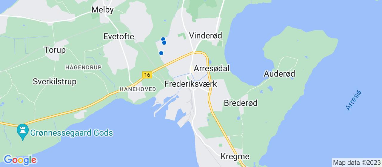 brolægger firmaer i Frederiksværk