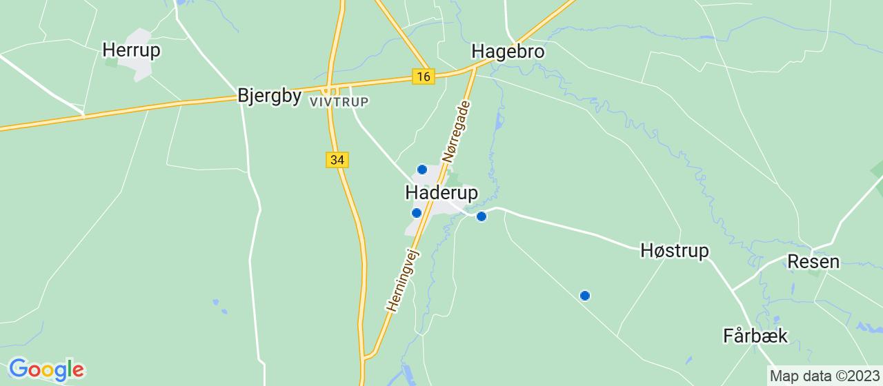 håndværkerfirmaer i Haderup