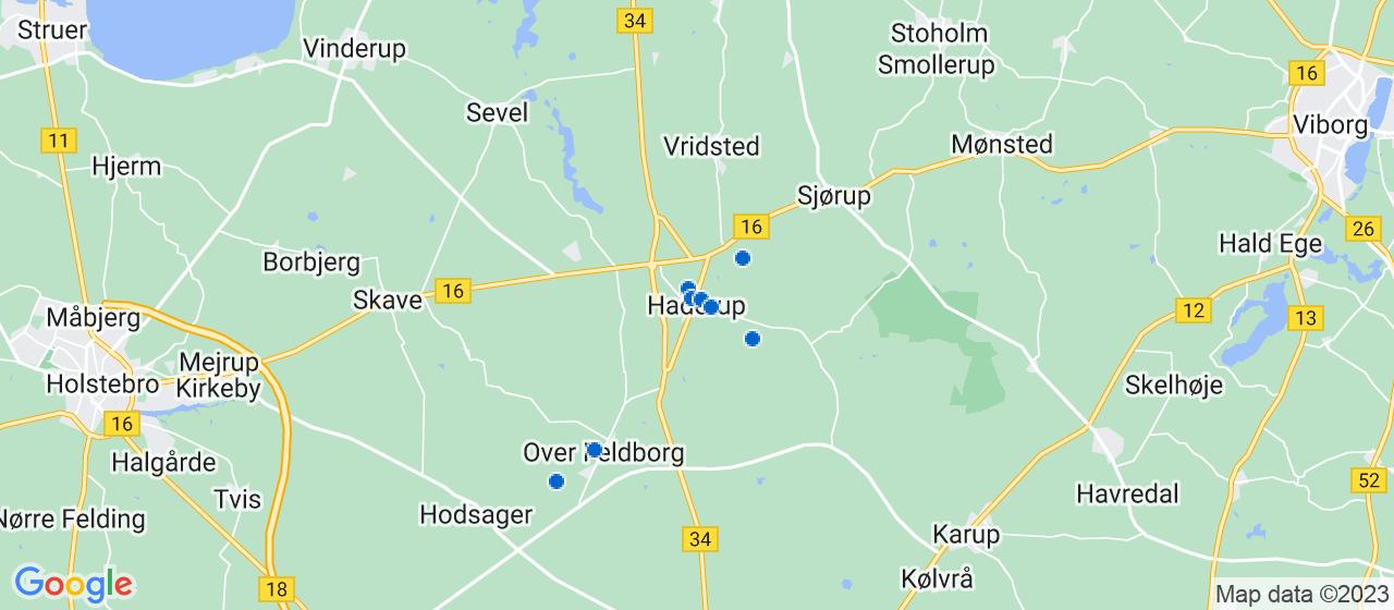 byggefirmaer i Haderup