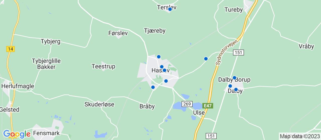 ejendomsservicefirmaer i Haslev