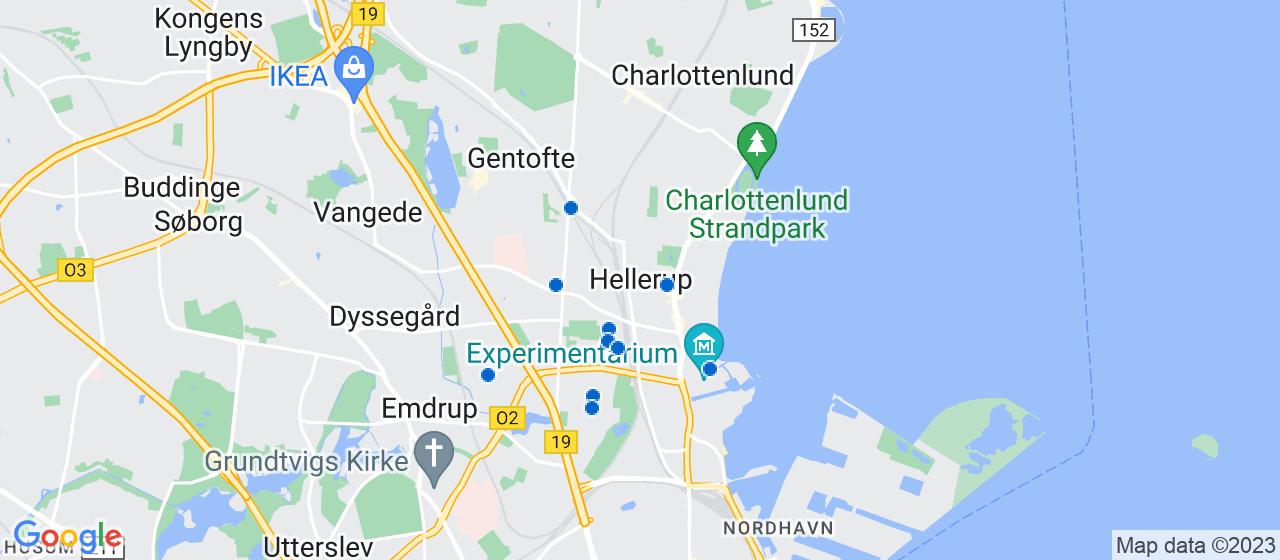 sandblæsning firmaer i Hellerup
