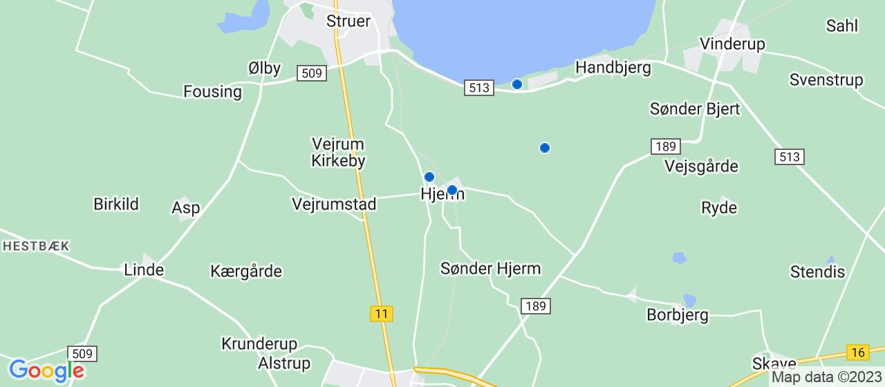 håndværkerfirmaer i Hjerm