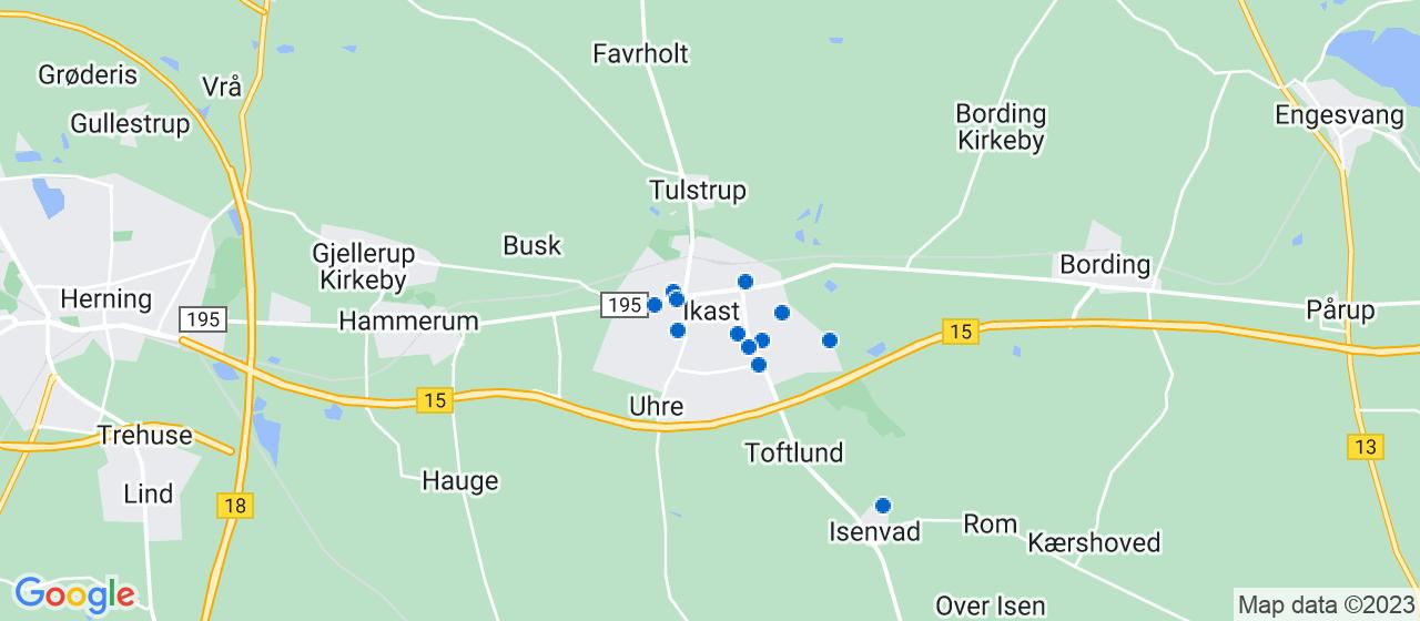 elektrikerfirmaer i Ikast