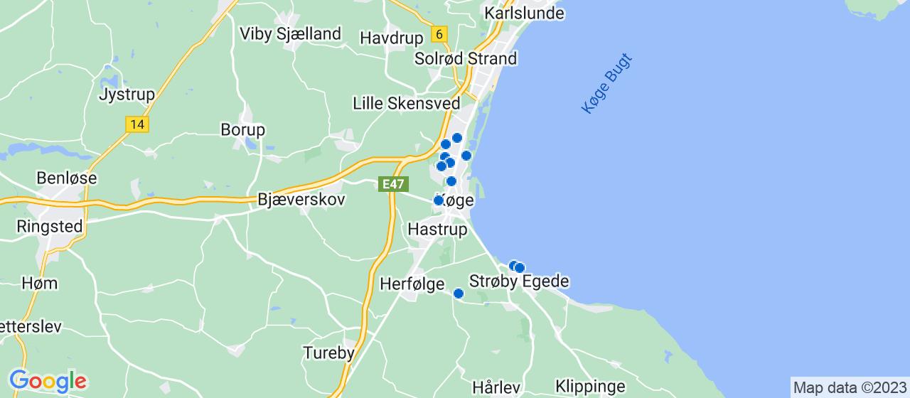 ejendomsservicefirmaer i Køge