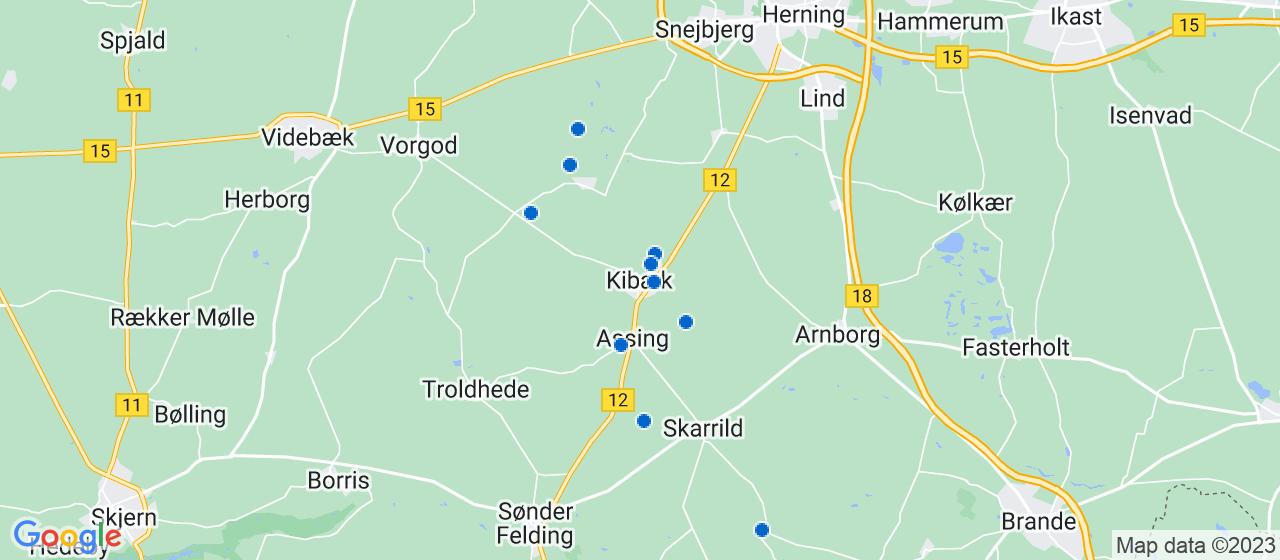 håndværkerfirmaer i Kibæk