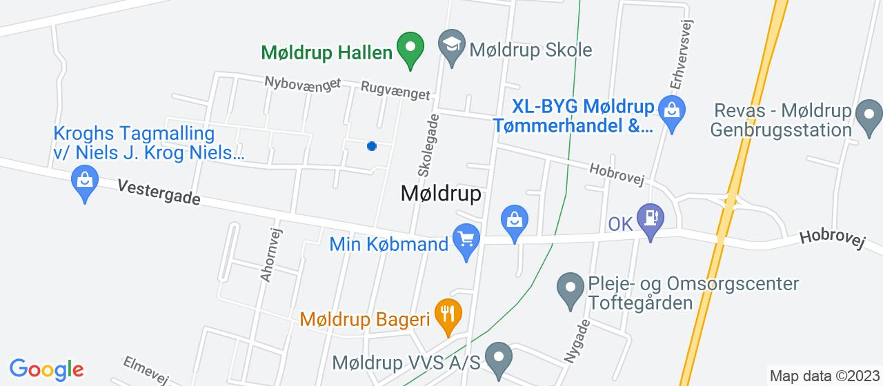 tagdækningsvirksomheder i Møldrup