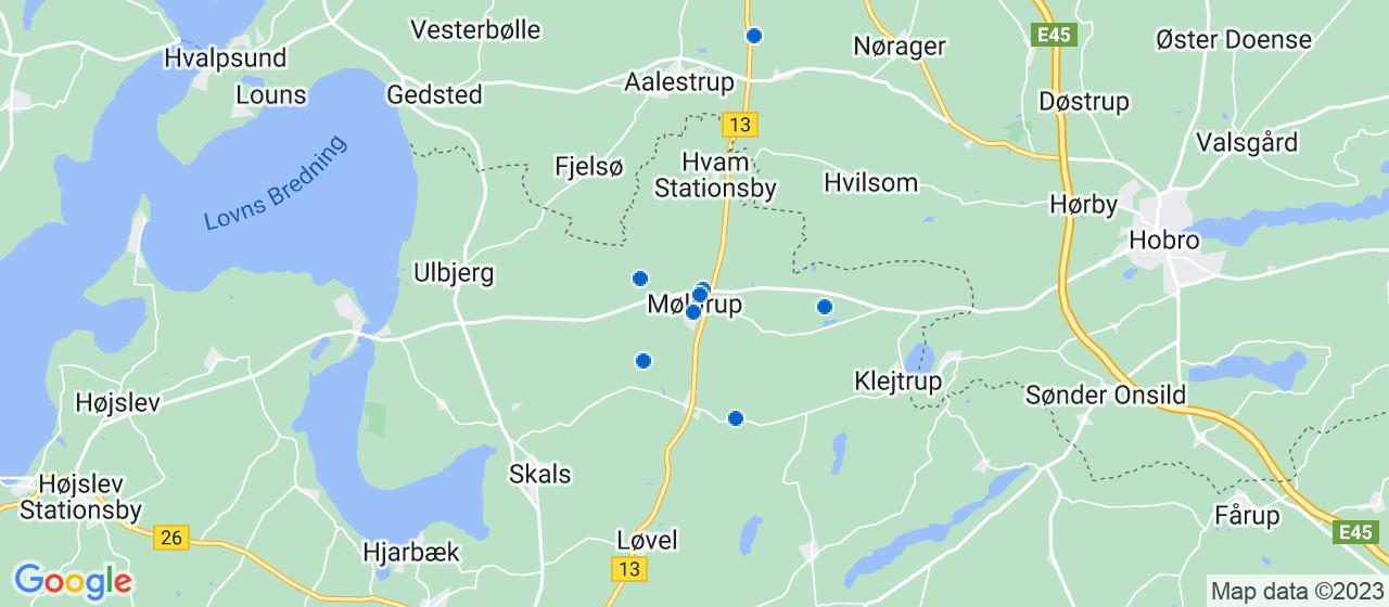 byggefirmaer i Møldrup