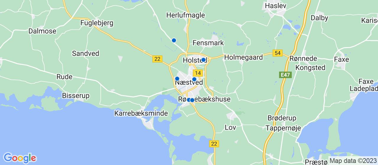 glarmesterfirmaer i Næstved