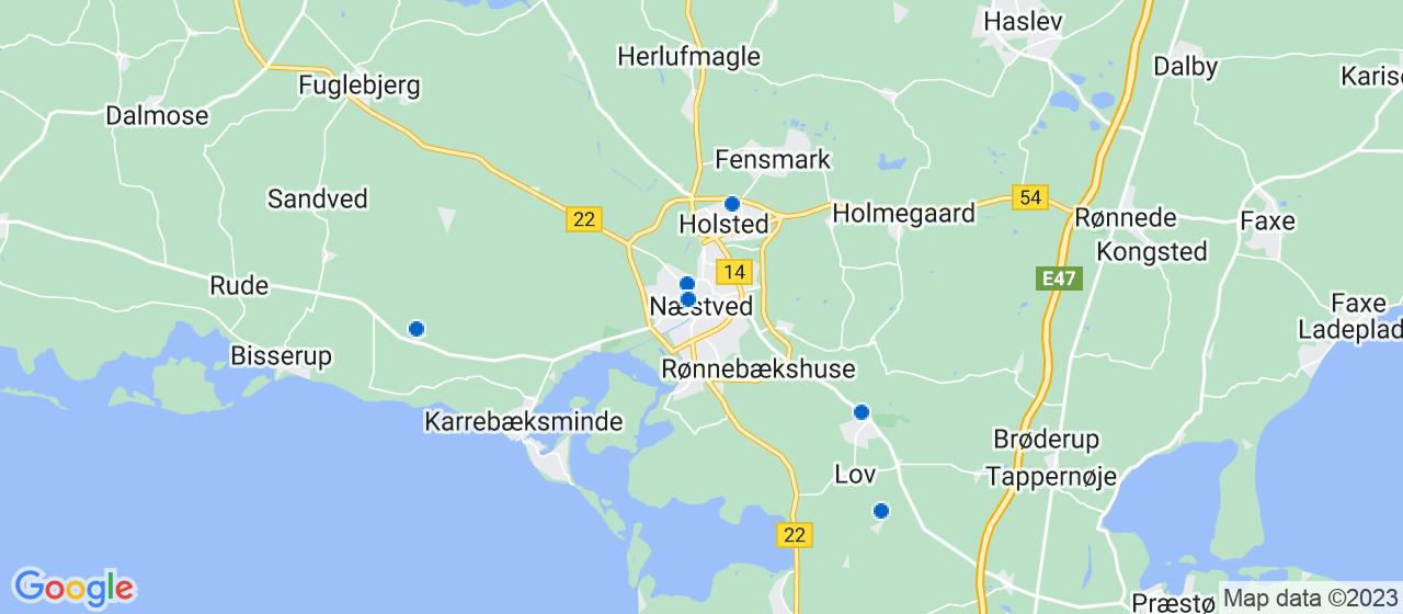 ejendomsservicefirmaer i Næstved