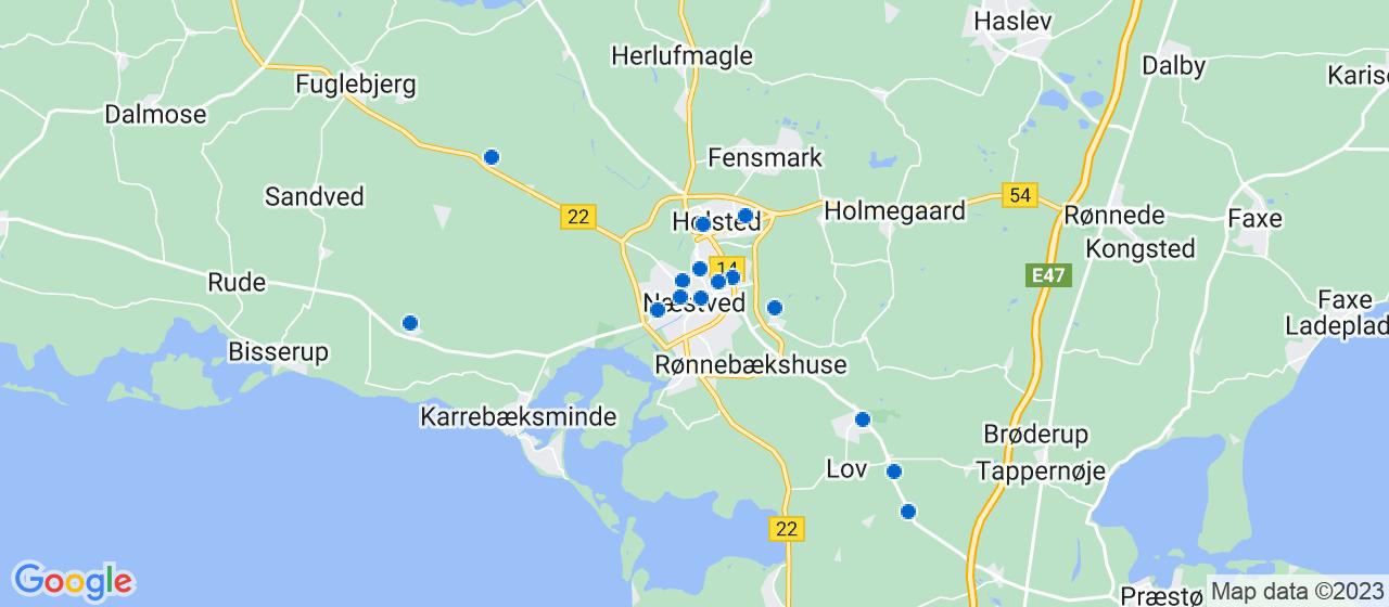 entreprisefirmaer i Næstved
