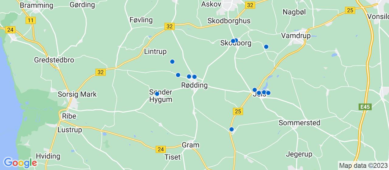 tømrerfirmaer i Rødding