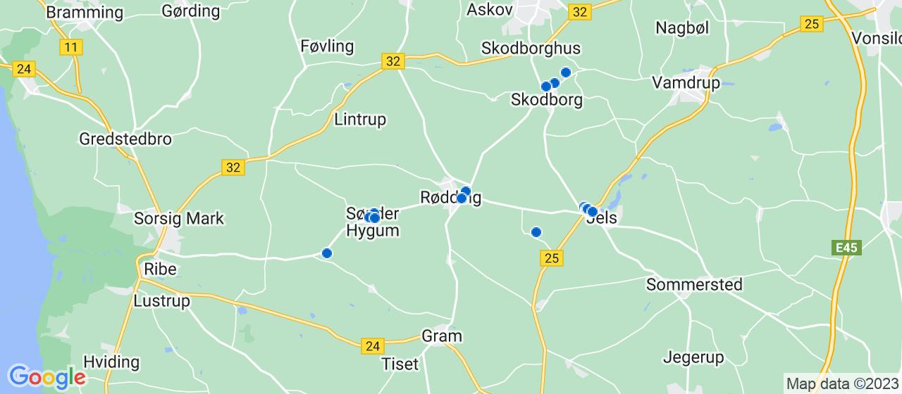 mekaniker firmaer i Rødding