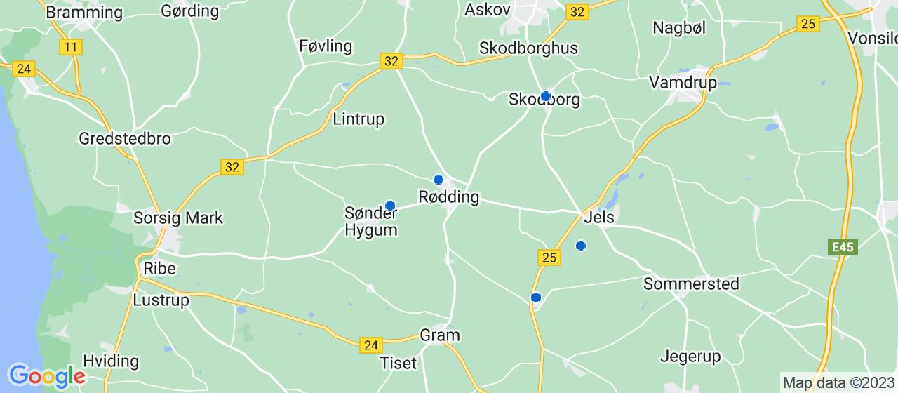elektrikerfirmaer i Rødding
