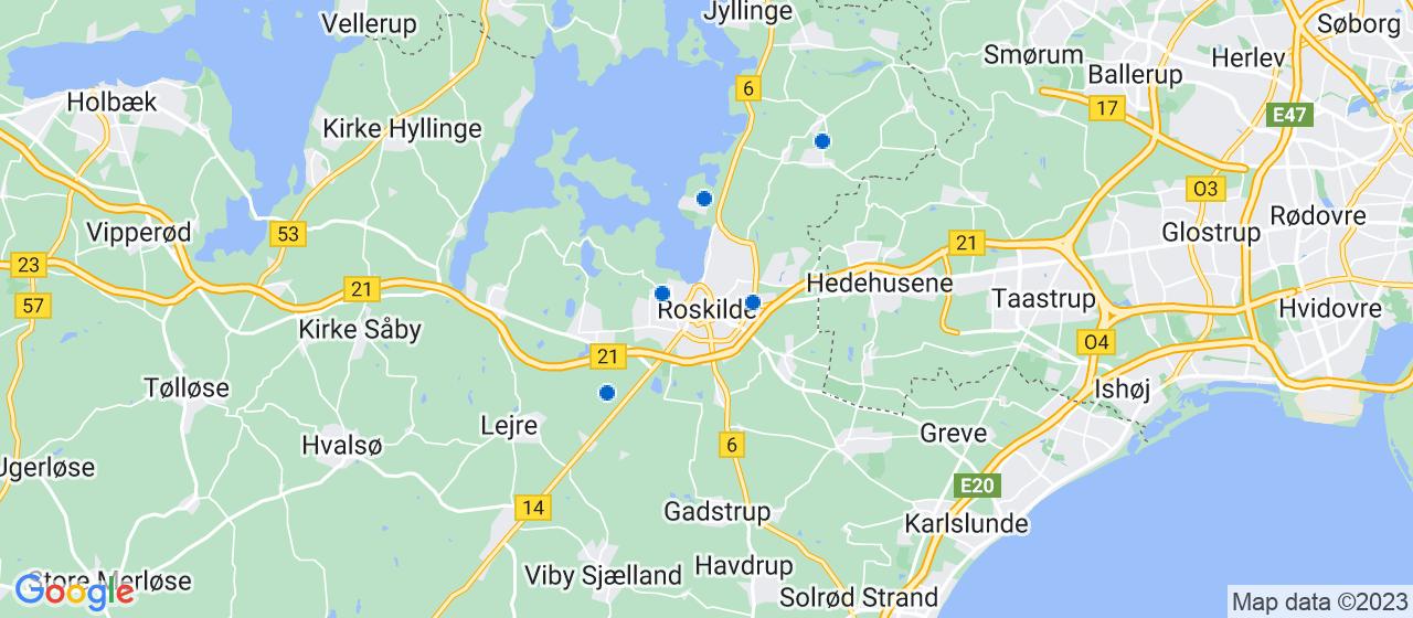 tagrensningsfirmaer i Roskilde