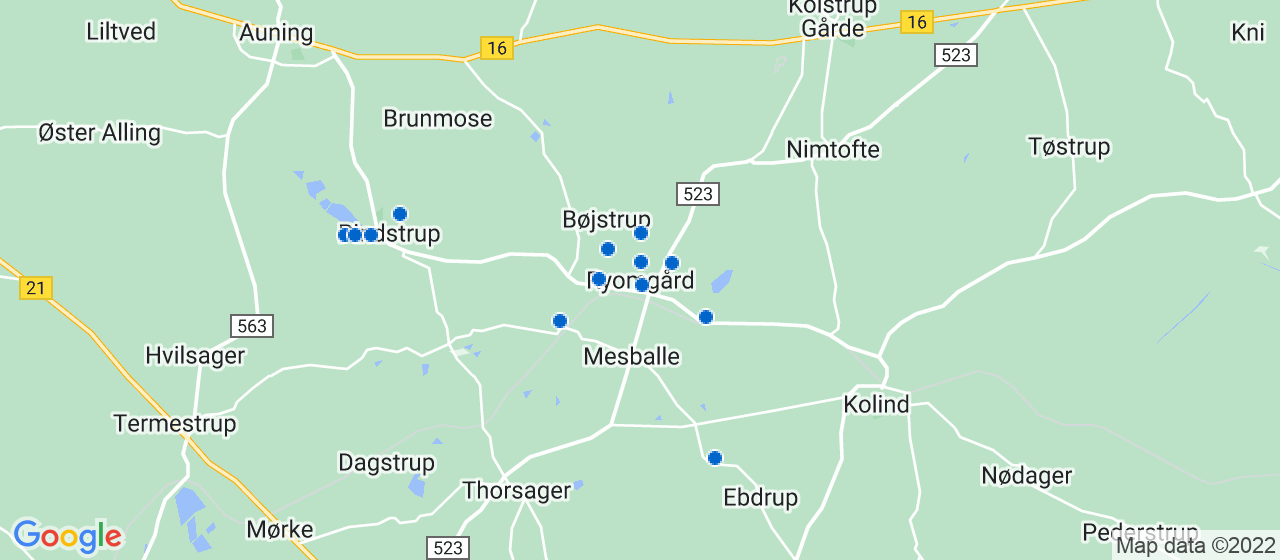 byggefirmaer i Ryomgård
