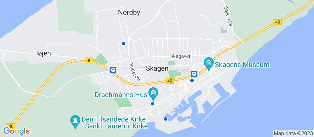 glarmesterfirmaer i Skagen