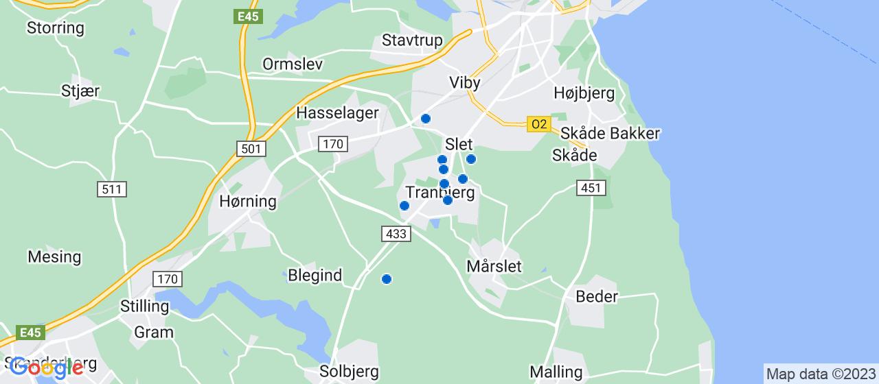 byggefirmaer i Tranbjerg
