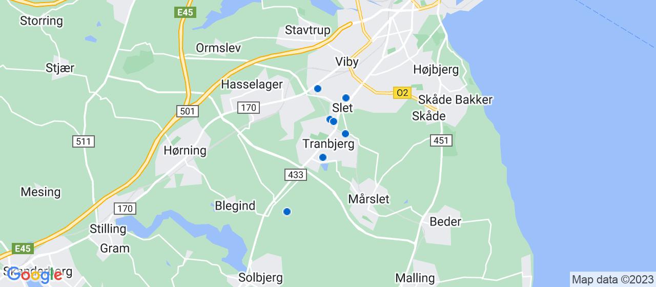 tømrerfirmaer i Tranbjerg