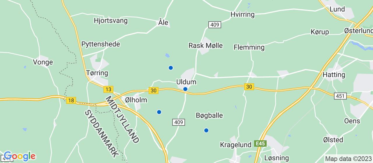tømrerfirmaer i Uldum