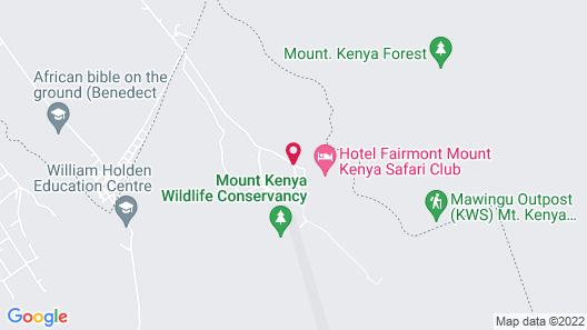 Fairmont Mount Kenya Safari Map