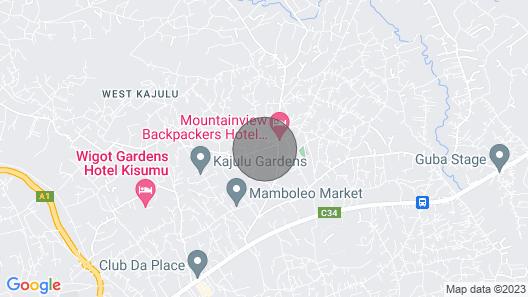 van Woudenberg's Garden-Kisumu/Kenya Map