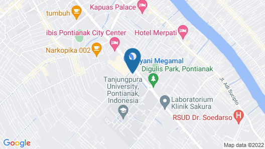 Mercure Pontianak City Center Map