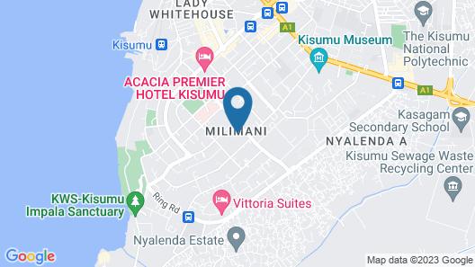 Vittoria Suites - Kisumu Map