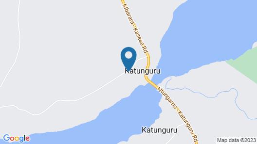 Kazinga Wilderness Safari Camp Map