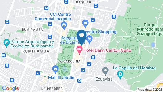 Bluezone Apartments Map