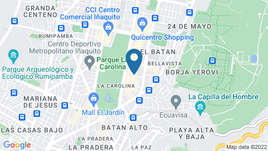 Hotel Dann Carlton Quito Map