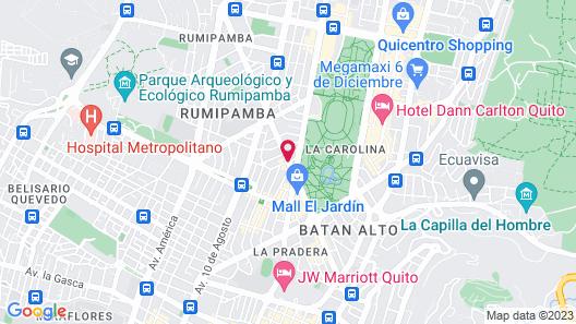 Wyndham Garden Quito Map