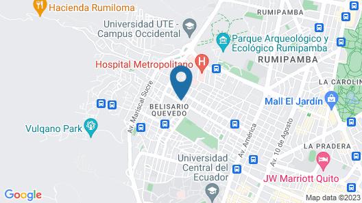 La Casa Amarilla Map