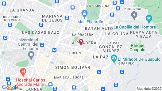 JW Marriott Hotel Quito Map