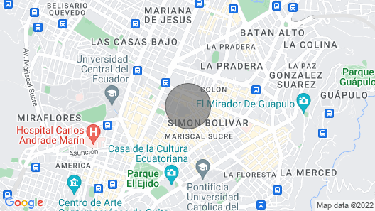 Cozy place in La Mariscal Map