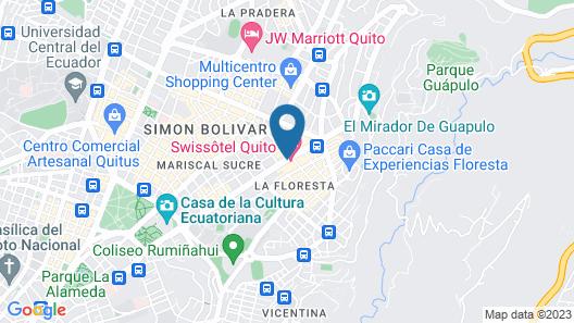 Swissotel Quito Map