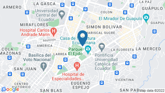 Hilton Colon Quito Map