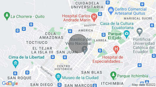Apartment in Historic Downtown Quito Map