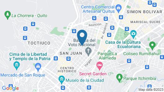 Casa Ceasars  Historic Quito Map