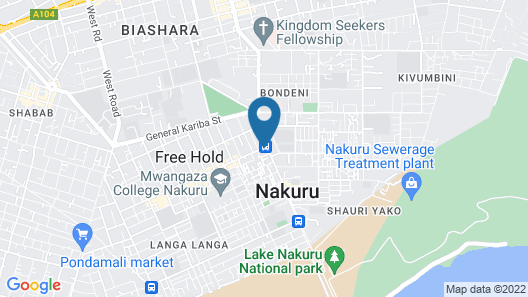 Jumuia Guest House Nakuru Map
