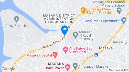 Garden Courts Hotel Masaka Map