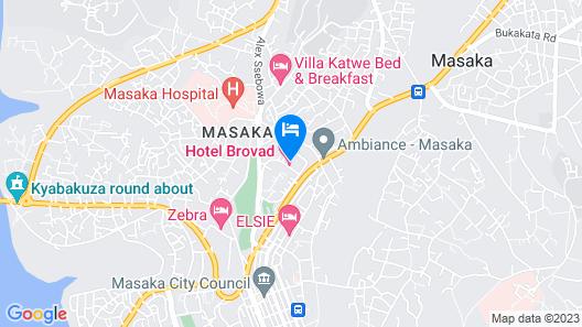 Hotel Brovad Masaka Map